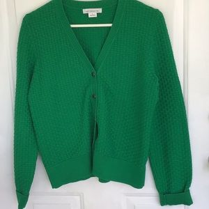 Bright Green Snap Up Cardigan